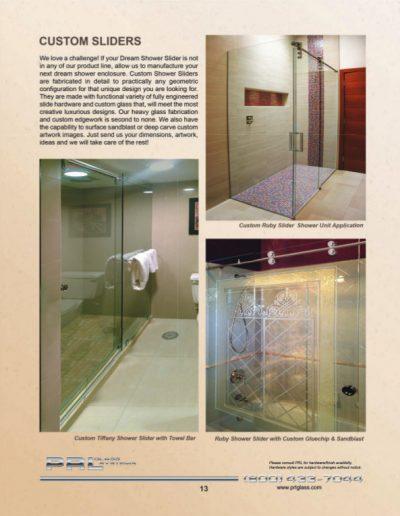 Custom Shower Sliders