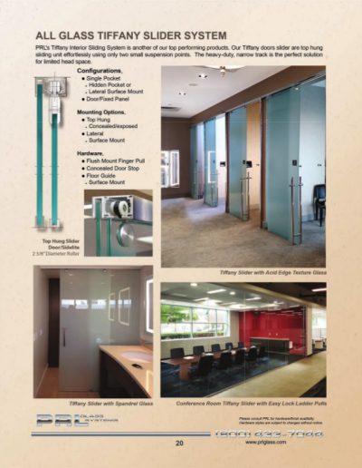All Glass Tiffany Slider System