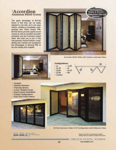 Accordion Aluminum Bifold Door System