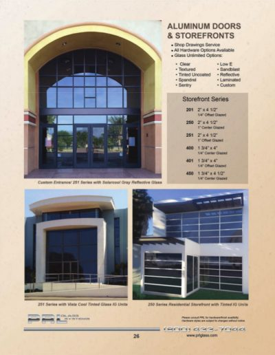 Aluminum Doors and Storefronts