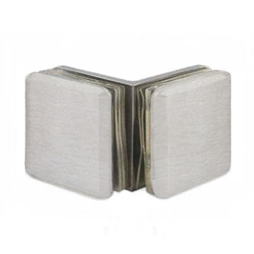 Beverly 90° Glass Clamp Brushed Nickel