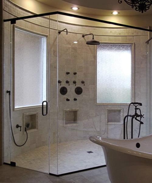 Complete Frameless Neoangle Shower