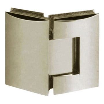 Contour 135° Glass-to-Glass Hinge Brushed Nickel