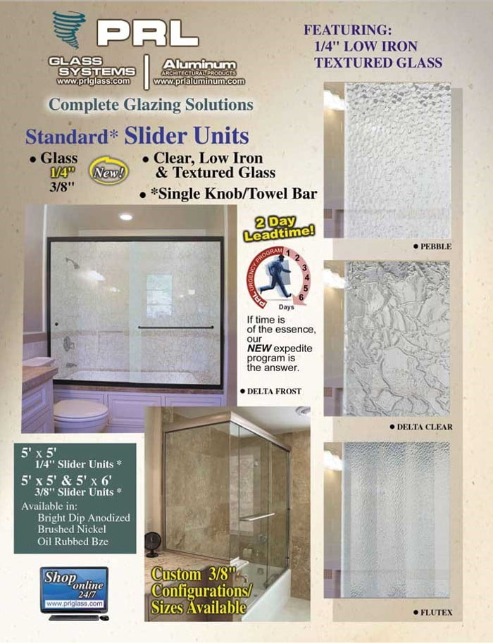 Contoured Shower Door Sliders