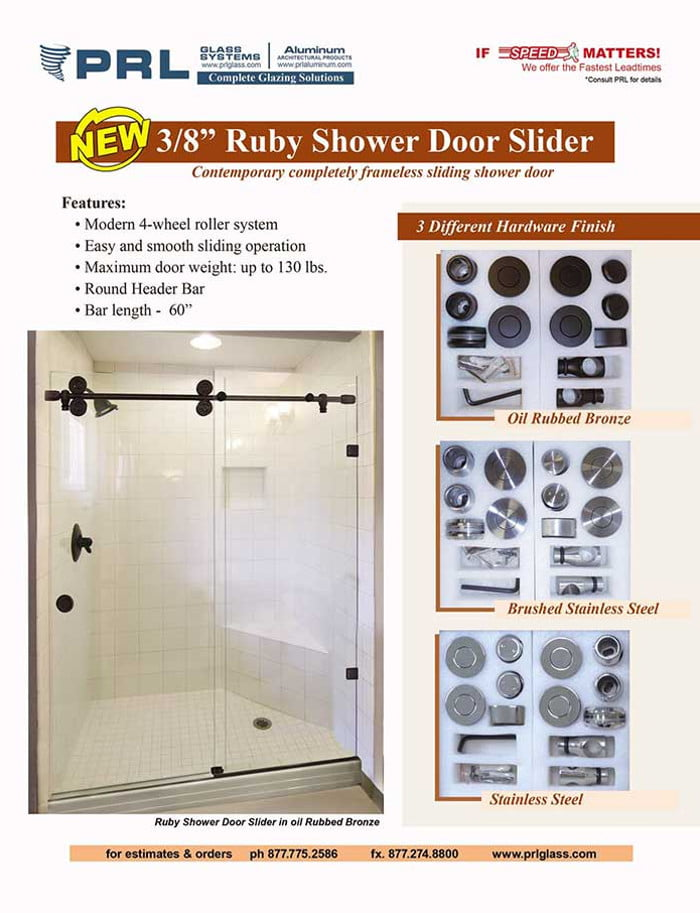 Ruby Shower Door Sliders