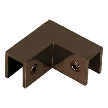 90° Sleeve Over Glass Clamp Oil Rubbed Bronze