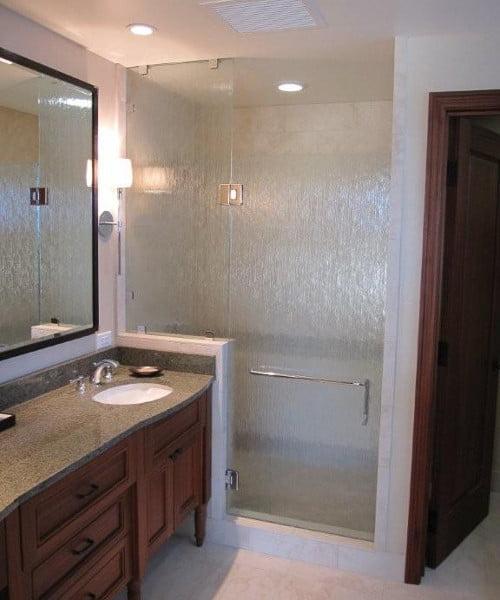Textured Shower Glass Unit