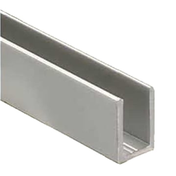"3/8"" U-Channel Brushed Nickel"