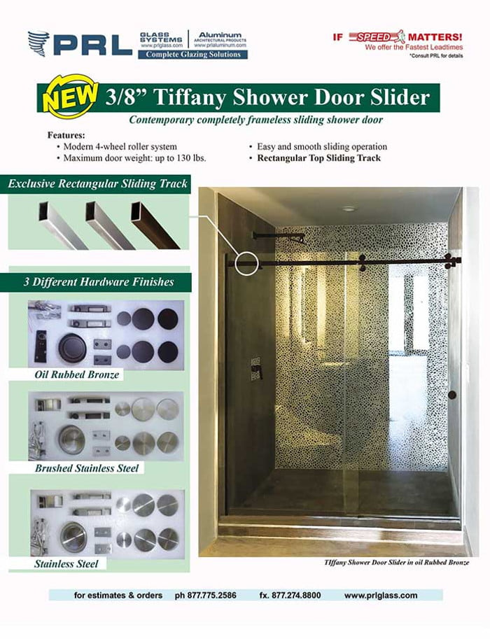 Tiffany Shower Door Sliders